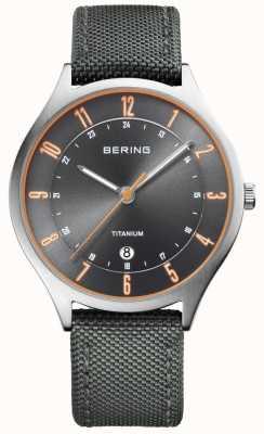 Bering Mens Ultra Light Titanium Nylon Grey 11739-879