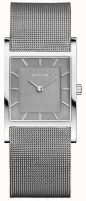 Bering Womans Classic Square Silver Milanese Strap 10426-309-S