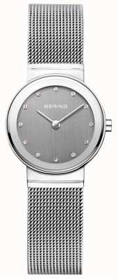 Bering Womans Classic Silver Milanese Strap Grey Dial 10126-309