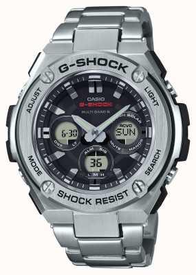 Casio Ex-Display Mens G-Shock G-Steel Alarm Chrono Stainless Steel GST-W310D-1AER-EXDISPLAY