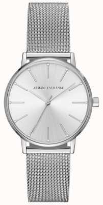 Armani Exchange Womans Stainless Steel Mesh Bracelet AX5535