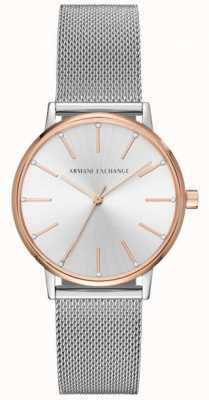 Armani Exchange Womans Stainless Steel Mesh Bracelet Dress Watch AX5537