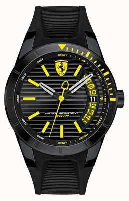 Scuderia Ferrari Men's RedRev Black Silicone Strap Watch 0830426