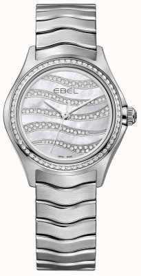 EBEL Womens Wave 94 Diamond Stainless Steel Watch 1216270