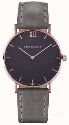 Paul Hewitt Unisex Sailor Grey Leather Strap PH-SA-R-ST-B-13M