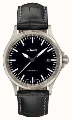 Sinn 556 I Sports Sapphire Glass Black Alligator Embossed Leather 556.010 EMBOSSED LEATHER