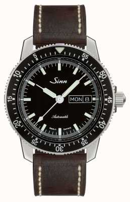 Sinn 104 St Sa I Classic Pilot Watch Dark Brown Vintage Leather 104.010-BL50202002007125401A