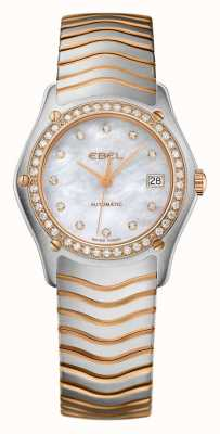 EBEL Womens Wave Diamond Set Two Tone Automatic Watch 1215928