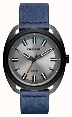 Diesel Mens Fastbak Denim-look Leather Strap DZ1838