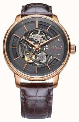 FIYTA Mens Photographer Brown Leather Auto Watch GA860016.PHK