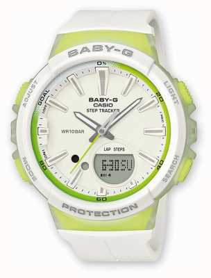 Casio Womens Baby-G Step Tracker Green/white Watch BGS-100-7A2ER