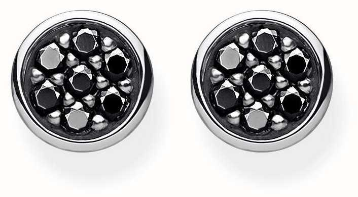 Thomas Sabo Blackened Cubic Zirconia Sterling Silver Ear Studs H1848-643-11