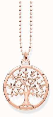 Thomas Sabo Rose Gold Plated Tree Necklace KE1660-415-40-L45V