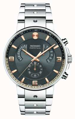 Movado Mens SE Pilot Retrograde Watch Grey Dial 0607130