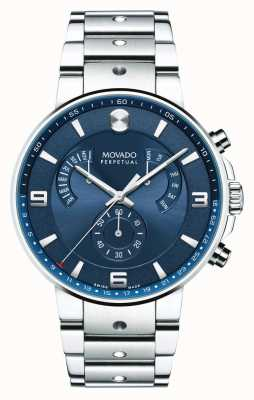Movado Mens SE Pilot Retrograde Watch Blue Dial 0607129