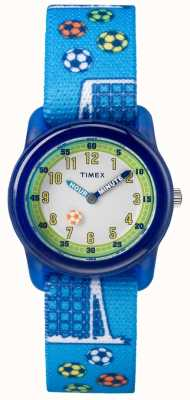 Timex Youth Analogue Blue Strap Soccer TW7C165004E