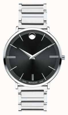 Movado Mens Ultra Slim Stainless Steel Watch 0607167