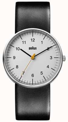 Braun Unisex Black Leather Watch Minimalist BN0021BKG