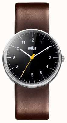 Braun Mens Brown Leather Strap Watch BN0021BKBRG