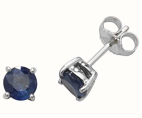 Treasure House 9k White Gold Sapphire Stud Earrings ED241WS