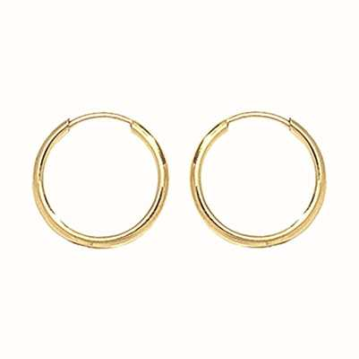 Treasure House 9k Yellow Gold 10 mm Sleepers ES110