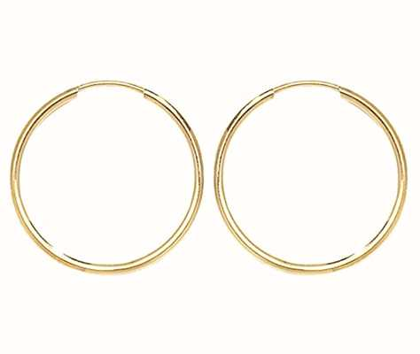Treasure House 9k Yellow Gold 18mm Sleepers ES112
