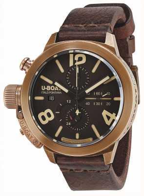 U-Boat Classico 50 Bronze CA BR Automatic Brown Leather Strap 8064