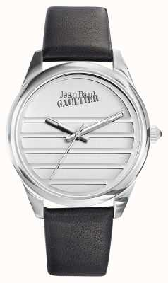 Jean Paul Gaultier Navy Black Leather Strap White Dial JP8502408