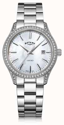 Rotary Womens Oxford White Stainless Steel Quartz Watch LB05092/41