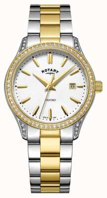 Rotary Womens Oxford Two Tone Stainless Steel Quartz Watch LB05093/02
