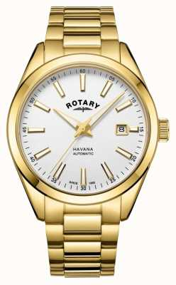 Rotary Mens Havana Silver White Stainless Steel Watch GB05081/02