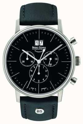 Bruno Sohnle Stuttgart Chronograph 42mm Quartz Stainless Steel Black Dial 17-13177-741