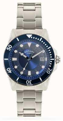 Rotary Mens Stainless Steel Bracelet Blue Dial GB00487/05