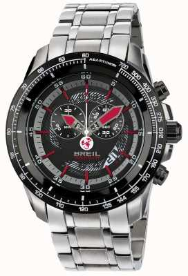 Breil Abarth Stainless Steel IP Chronograph Black & Red Dial TW1491