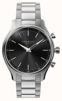 Kronaby 38mm SEKEL Bluetooth Steel Metal Bracelet Smartwatch A1000-2750