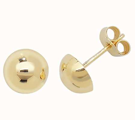 Treasure House 9k Yellow Gold Dome Stud Earrings 7 mm ES391
