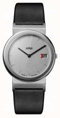 Braun Classic 1989 Tribute Design Black Leather Strap Grey AW50