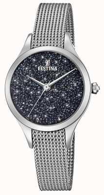 Festina Festina Ladies Watch With Swarovski Crystals Mesh Bracelet F20336/3