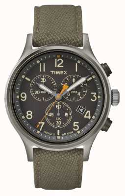 Timex Allied Chrono Green Nylon Strap/Black Dial TW2R47200
