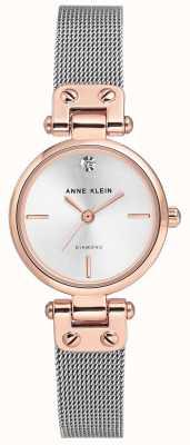 Anne Klein Womens Isabel Silver Mesh Bracelet And Dial AK/N3003SVRT