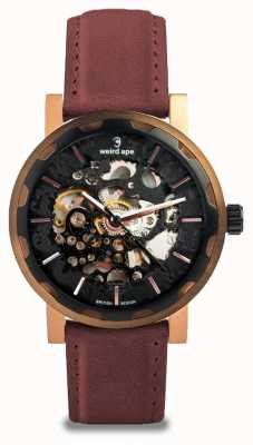 Weird Ape Kolt Automatic Royal Blood Suede Black Rose Gold IP Case WA02-005542