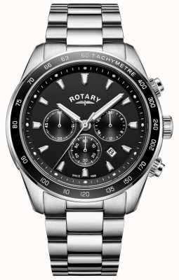 Rotary Gents Bracelet Henley Stainless Steel Chronograph GB05109/04