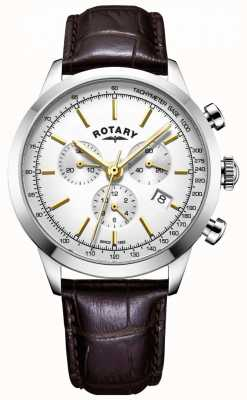 Rotary Mens Cambridge chronograph leather watch GS05253/02