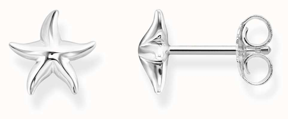 Thomas Sabo Womens Glam And Soul Sterling Silver Starfish Ear Studs H2001-001-21