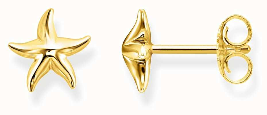 Thomas Sabo Womens Glam And Soul Gold Starfish Ear Studs H2001-413-39