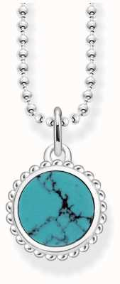 Thomas Sabo Womens Glam And Soul Sterling Silver Turquoise Necklace KE1762-404-17-L45V
