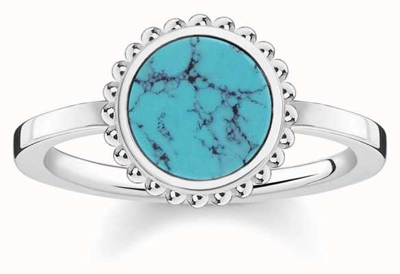 Thomas Sabo Womens Glam And Soul Turquoise Stone Ring TR2186-404-17-54