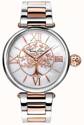 Thomas Sabo Womens Glam And Soul Karma Watch Rose Gold And Silver WA0315-272-213-38
