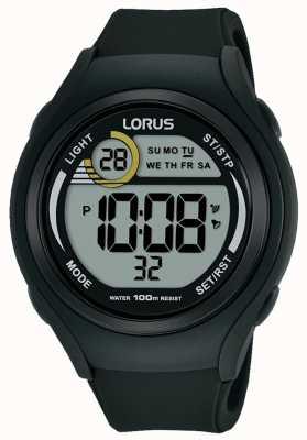 Lorus Unisex Lorus Rubber Digital Sports Watch Black R2373LX9