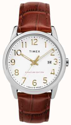 Timex Easy Reader Signature With Date 38mm Leather Watch TW2R65000